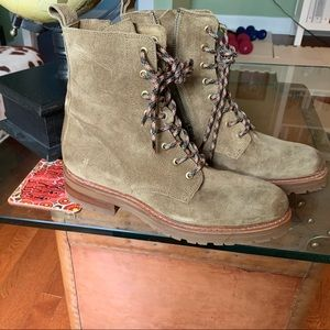 FRYE Suede Ladies Combat Boots (NEW)